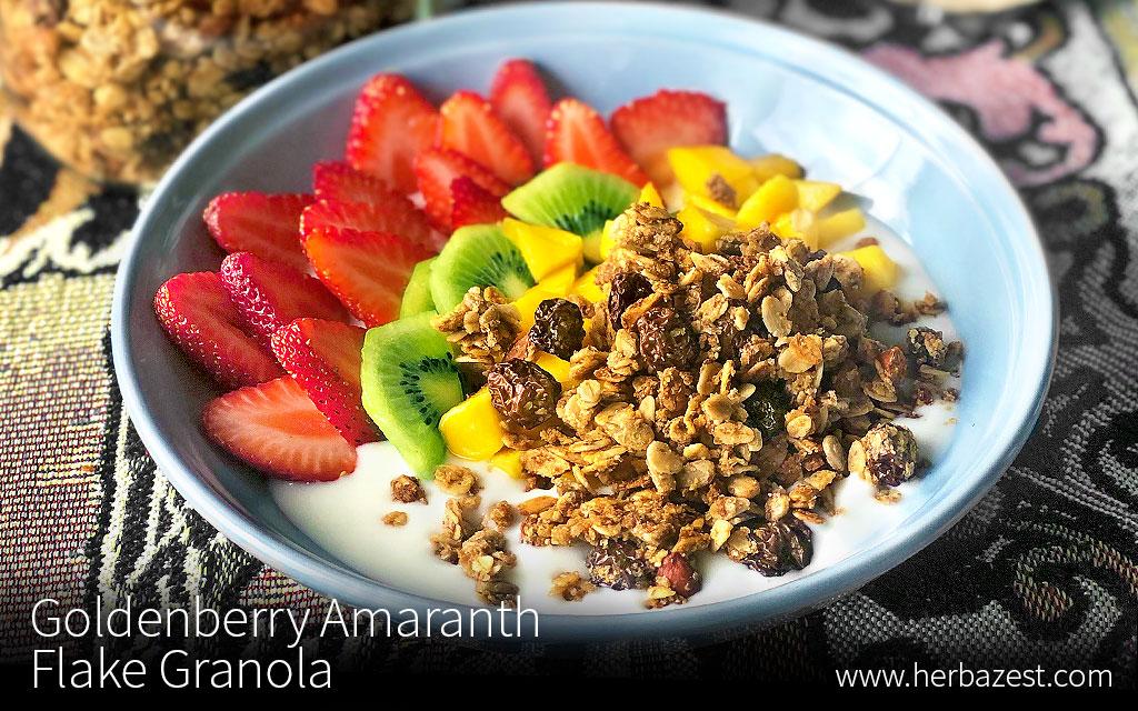 Goldenberry Amaranth Flake Granola