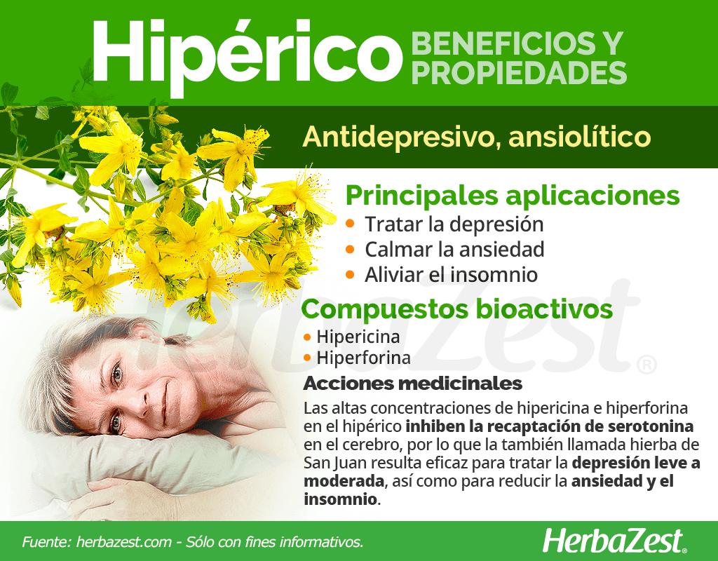 Beneficios y propiedades del hipérico