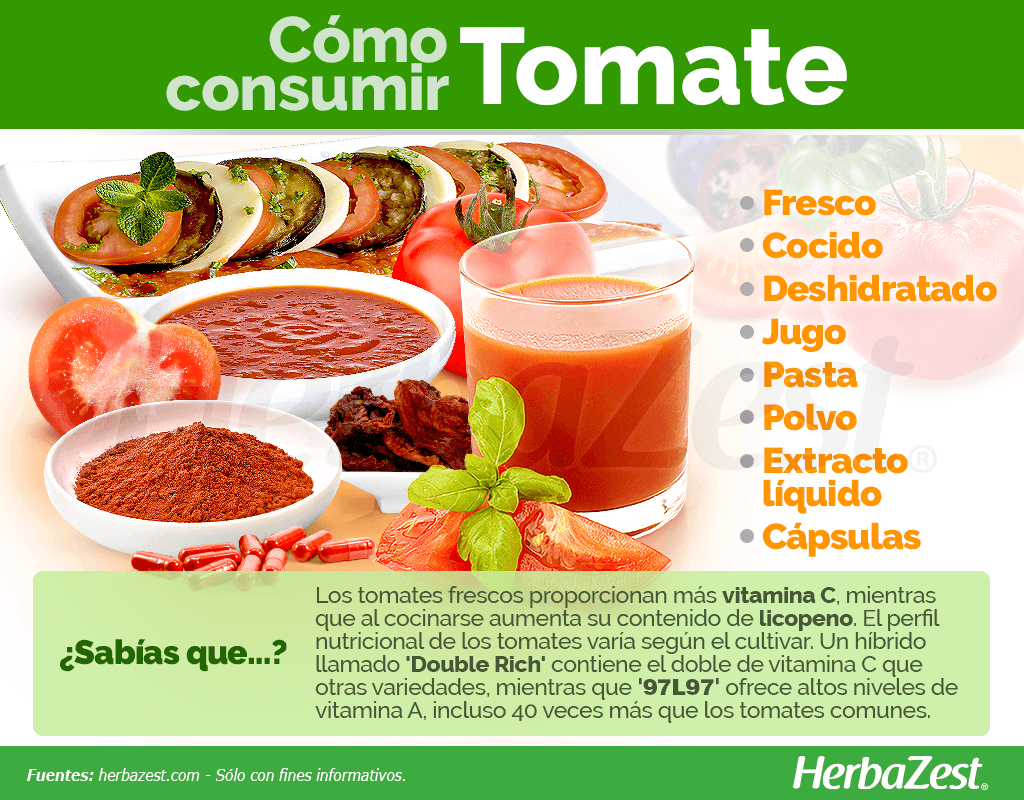 Cómo consumir tomate