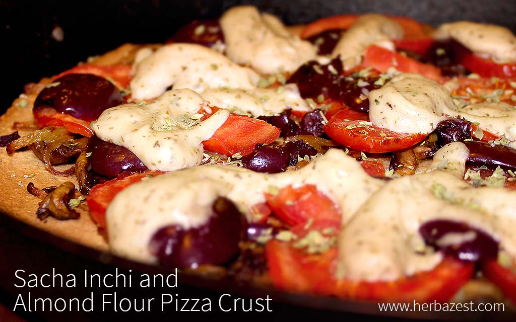Sacha Inchi and Almond Flour Pizza Crust