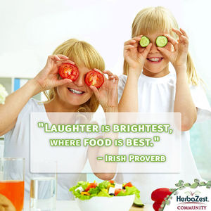 Quote: Laughter is Brightest where Food is Best