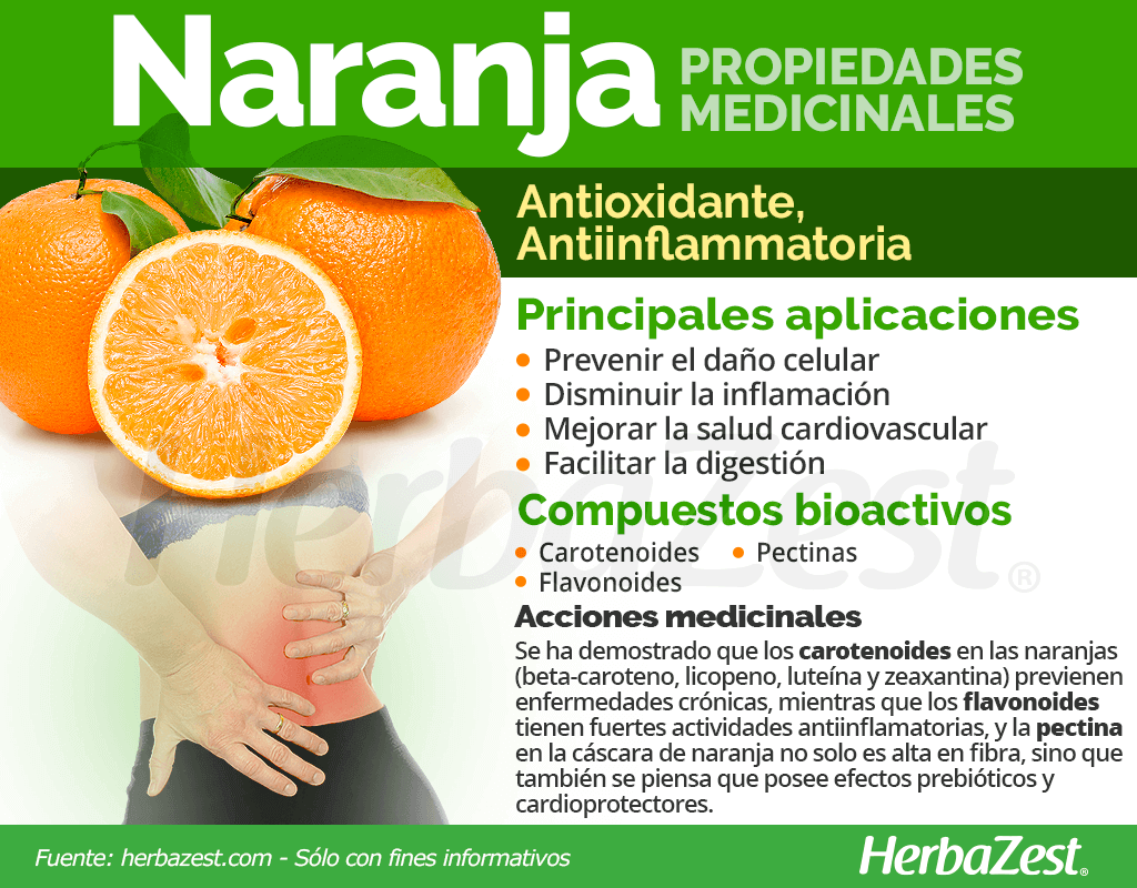Propiedades medicinales de la naranja