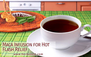 Maca Infusion for Hot Flash Relief