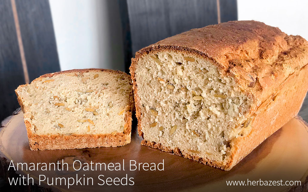 Amaranth Oatmeal Bread with Pumpkin Seeds