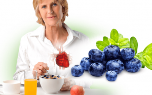Eating plenty of blueberries reduces blood pressure, helping to prevent heart disease.