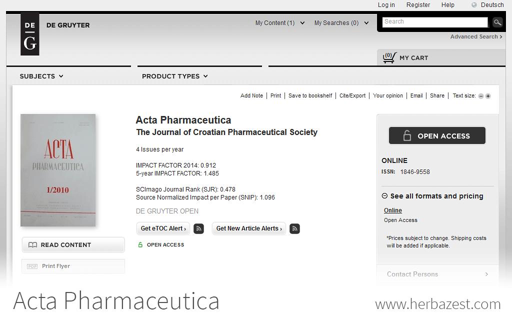 Acta Pharmaceutica