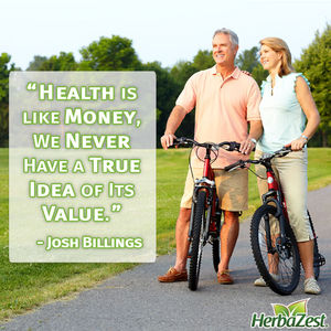 Quote: Health is Like Money, We Never Have a True Idea of Its Value