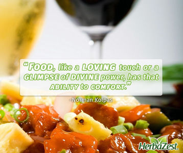 Quote: Food has that ability to comfort
