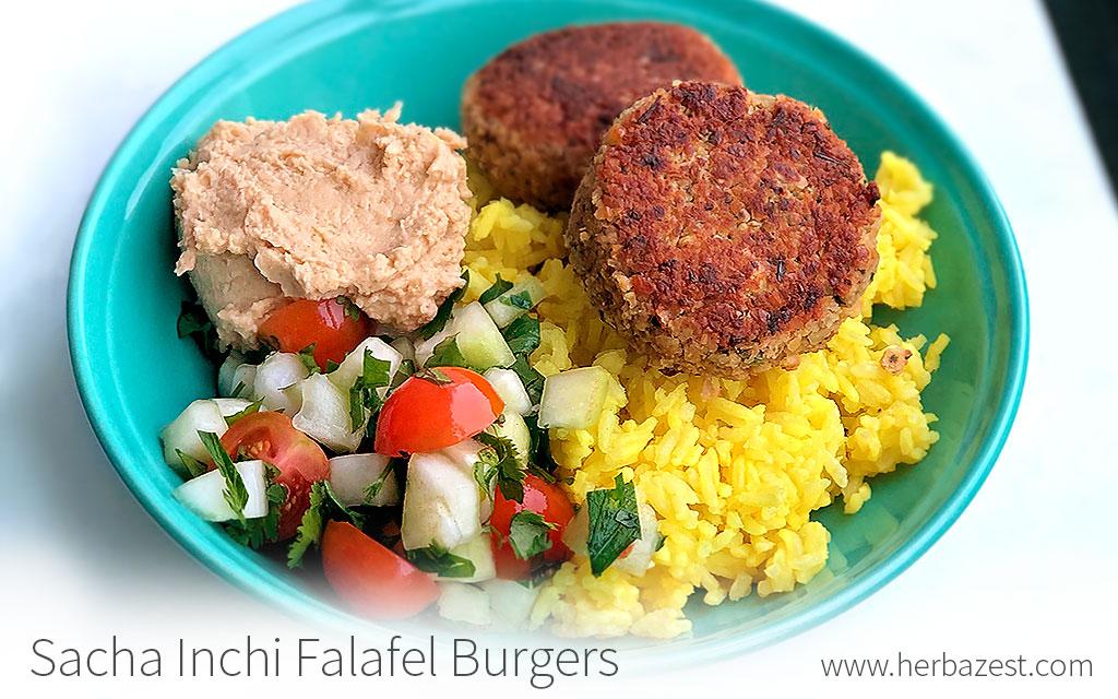 Sacha Inchi Falafel Burgers