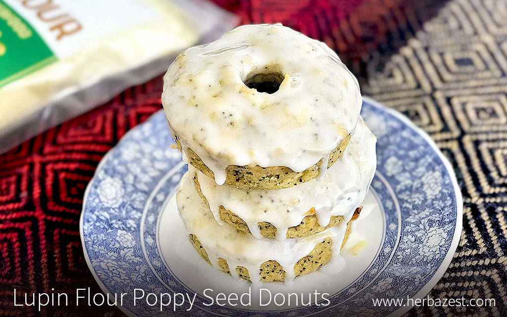 Lupin Flour Poppy Seed Donuts