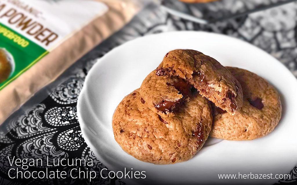 Vegan Lucuma Chocolate Chip Cookies