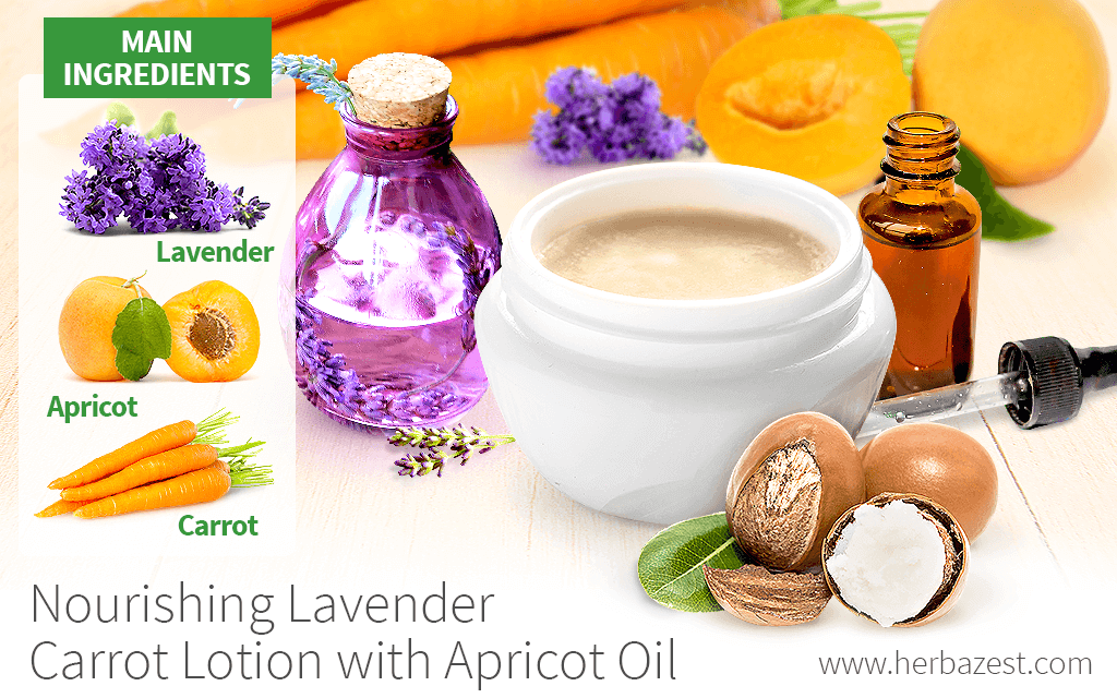 Nourishing Lavender Carrot Lotion with Apricot Oil