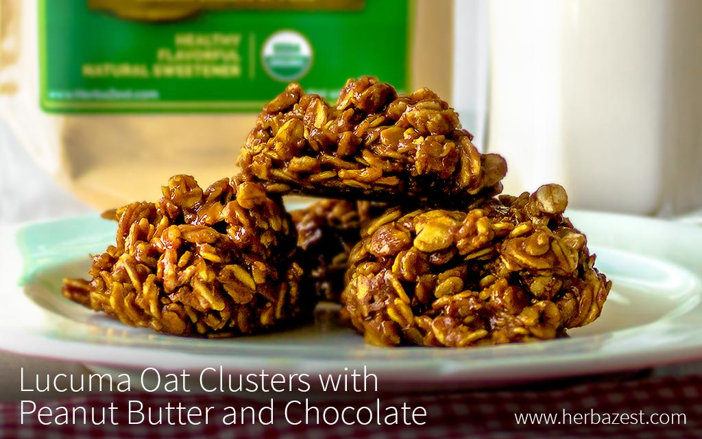 Lucuma Oat Clusters with Peanut Butter and Chocolate