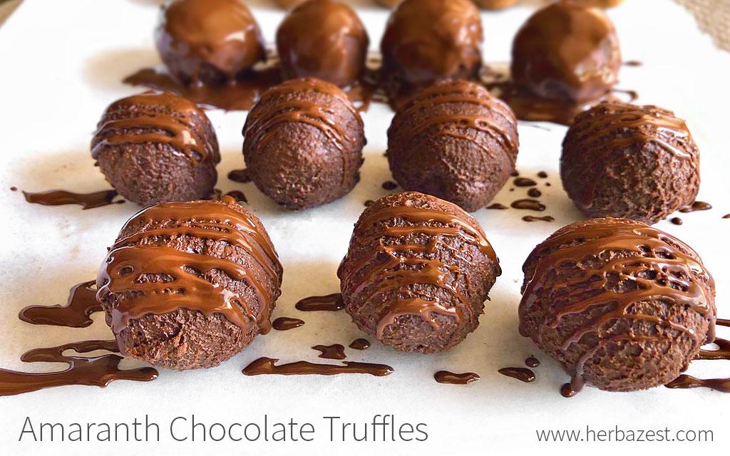 Amaranth Chocolate Truffles