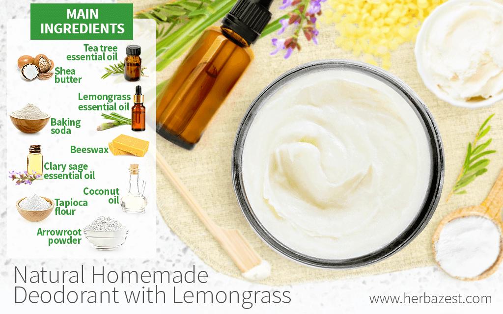 Natural Homemade Deodorant with Lemongrass
