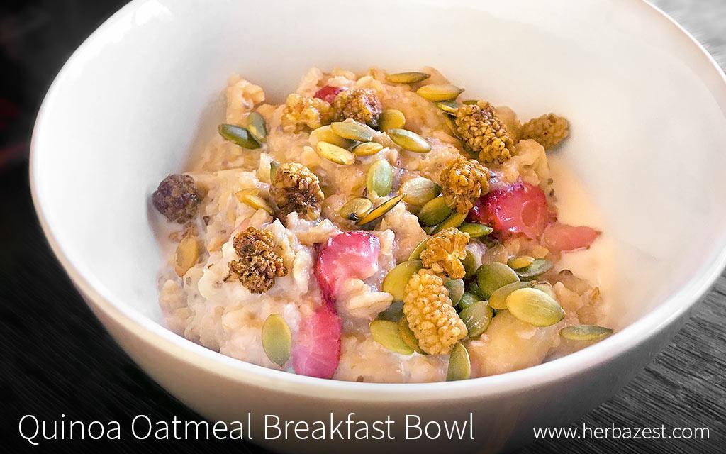 Quinoa Oatmeal Breakfast Bowl
