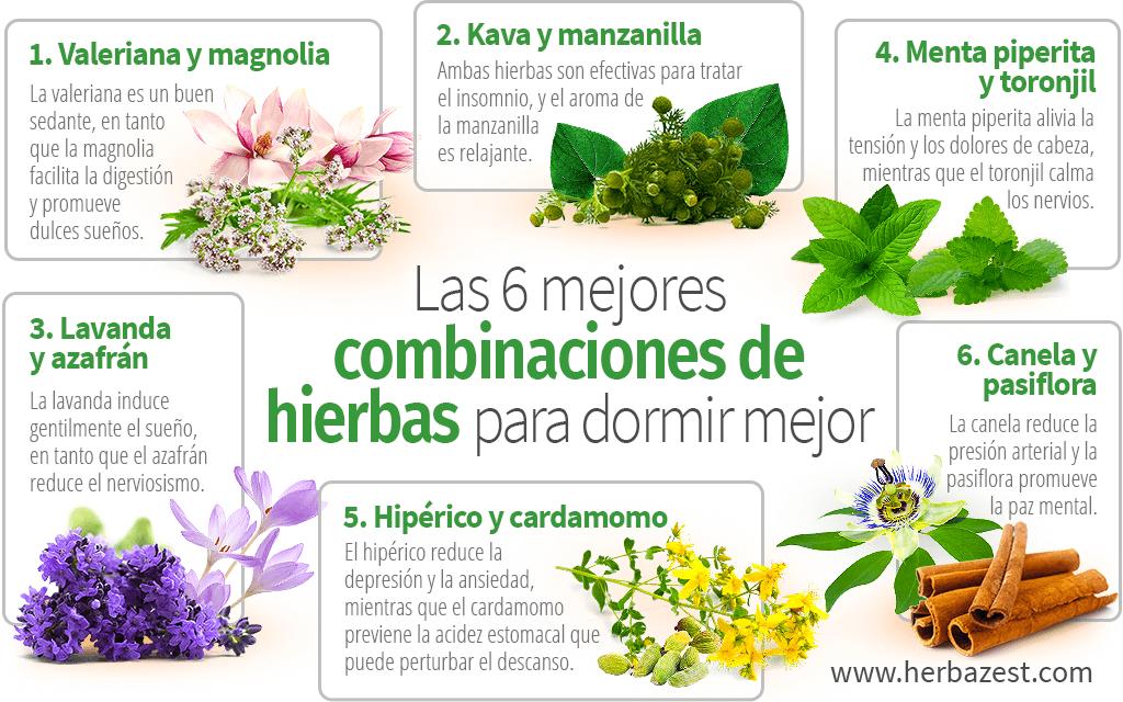 Las 6 mejores combinaciones de hierbas para dormir mejor
