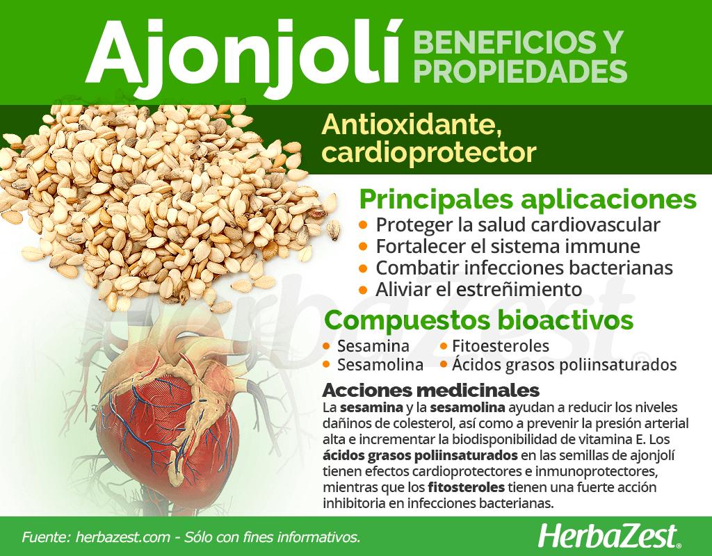 Beneficios y propiedades del ajonjolí