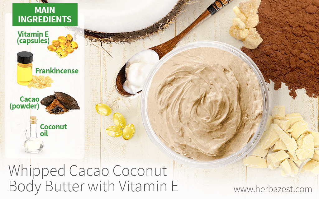 Whipped Cacao Coconut Body Butter with Vitamin E