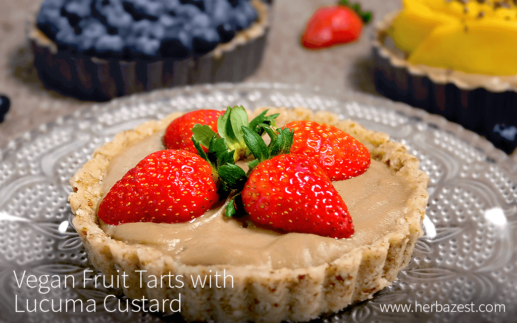 Vegan Fruit Tarts with Lucuma Custard