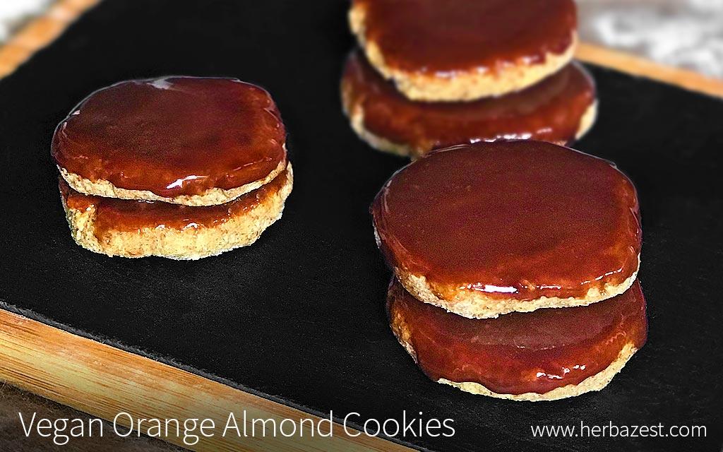 Vegan Orange Almond Cookies