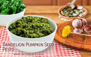Dandelion Pumpkin Seed Pesto