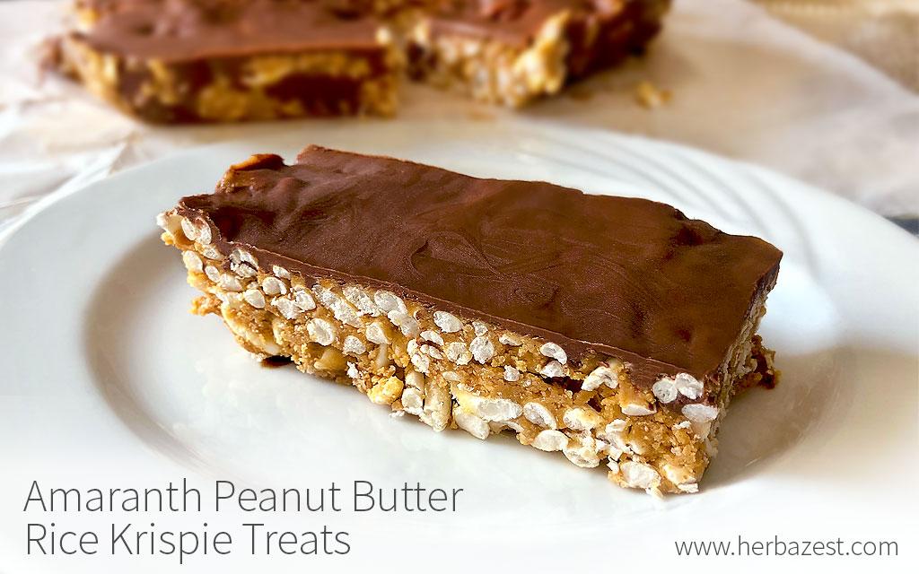 Amaranth Peanut Butter Rice Krispie Treats