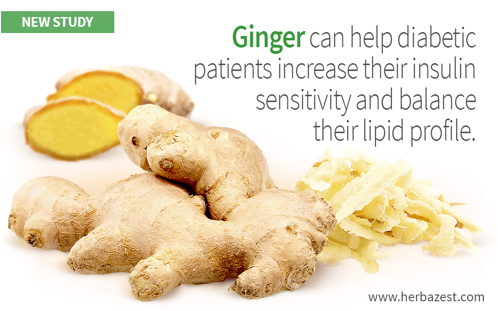 Ginger Can Help Manage Type 2 Diabetes Symptoms
