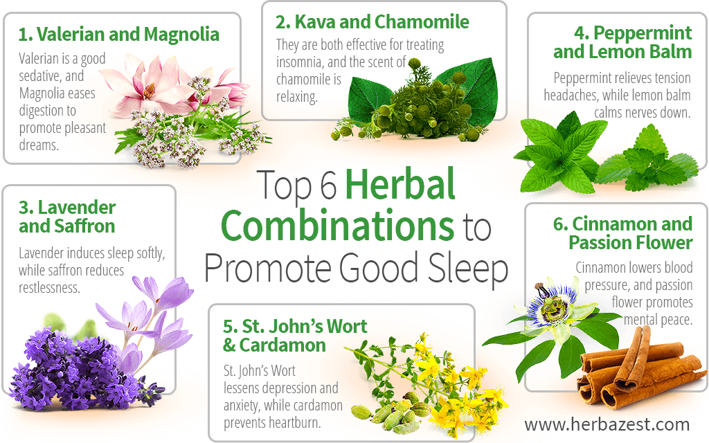 Top 6 Herbal Combinations to Promote Good Sleep