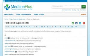 MedlinePlus Herbs and Supplements