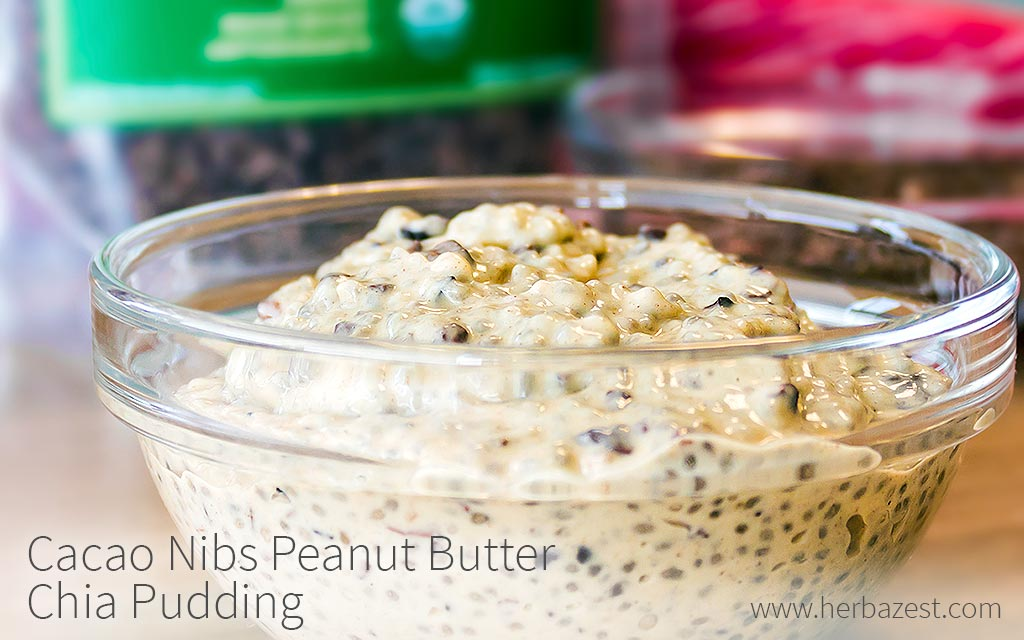 Cacao Nibs Peanut Butter Chia Pudding