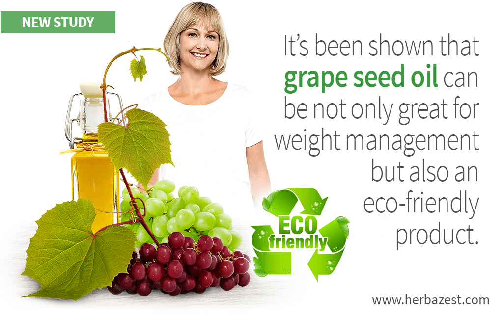 It's been shown that grape seed oil can be not only great for weight management but also an eco-friendly product.