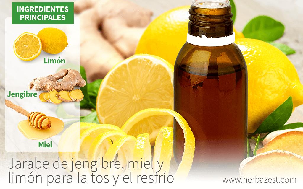 Jarabe de jengibre, miel y limón para la tos y el resfrío