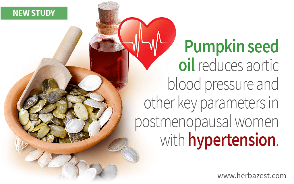 Postmenopausal Hypertension Can Be Managed with Pumpkin Seed Oil