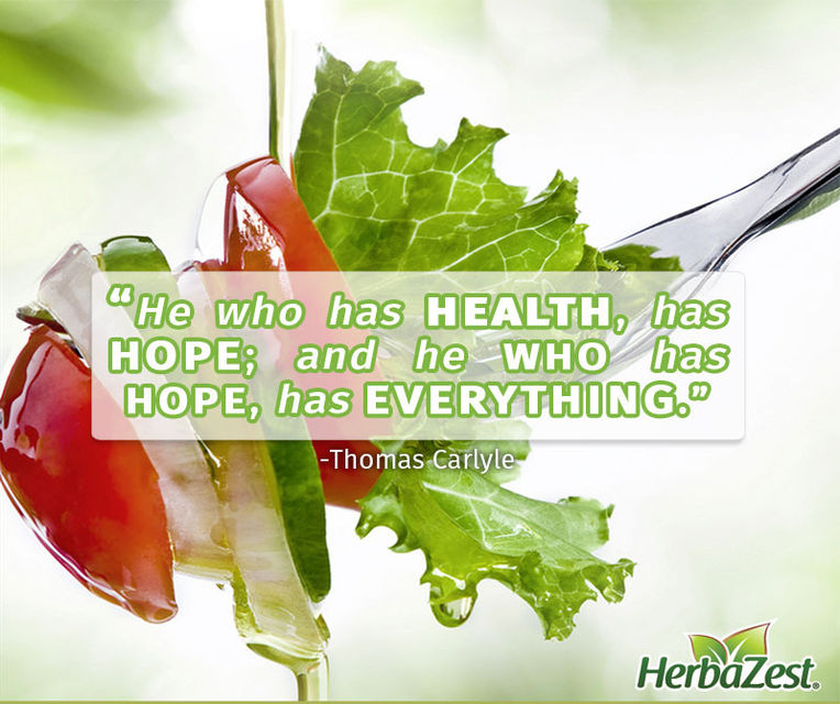 Quote: He Who Has Health Has Hope