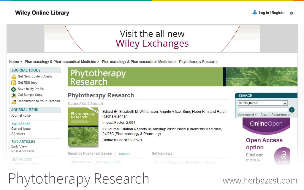 Phytotherapy Research