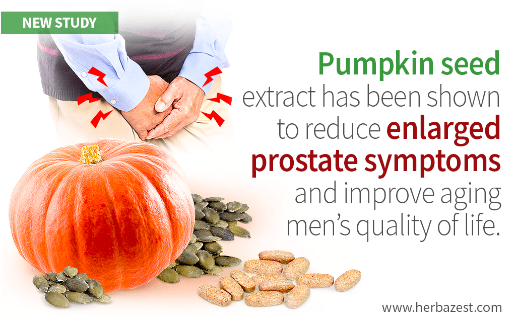 Enlarged Prostate Symptoms Can Be Relieved with Pumpkin Seed Extract, Study Finds