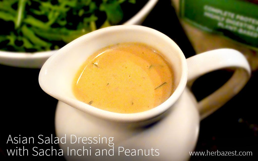 Asian Salad Dressing with Sacha Inchi and Peanuts