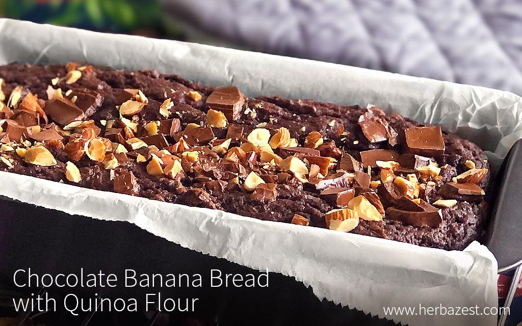Chocolate Banana Bread with Quinoa Flour