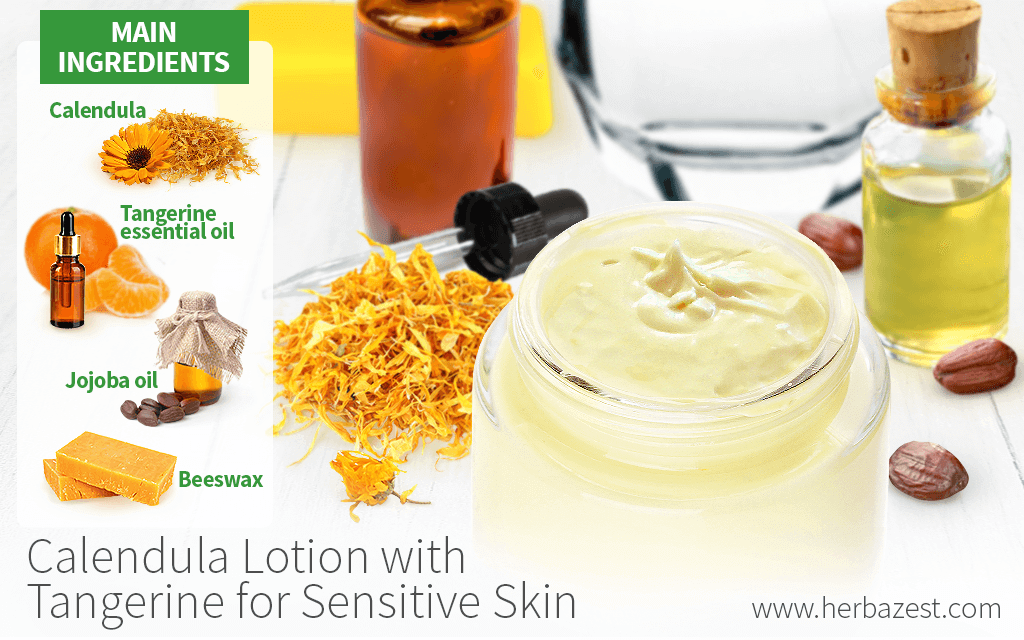 Calendula Lotion with Tangerine for Sensitive Skin