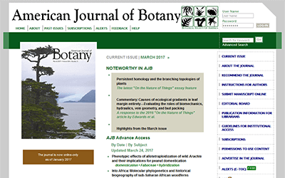 American Journal of Botany: Examples of Citations Journal