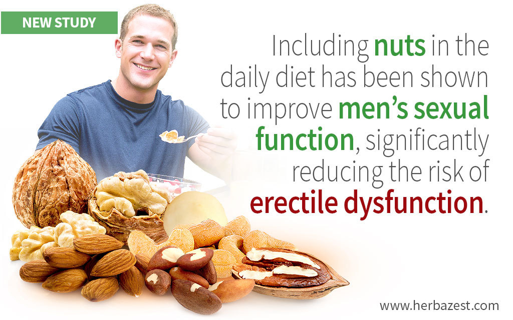 Benefits of Nuts for Men's Sexual Function Shown by Study