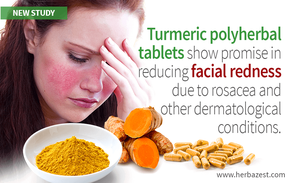 Turmeric Polyherbal Supplements Shown to Reduce Facial Redness