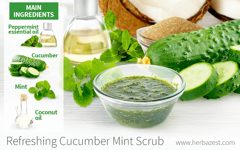 Refreshing Cucumber Mint Scrub