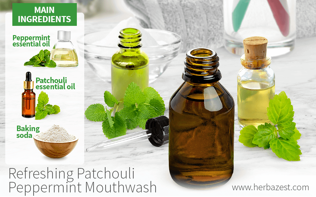 Refreshing Patchouli Peppermint Mouthwash