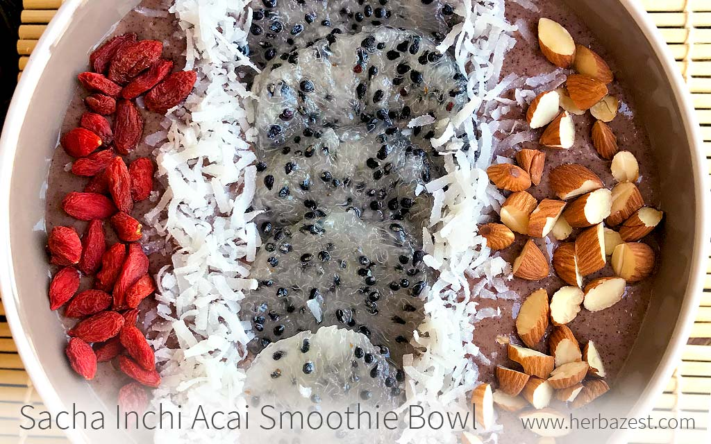 Sacha Inchi Acai Smoothie Bowl