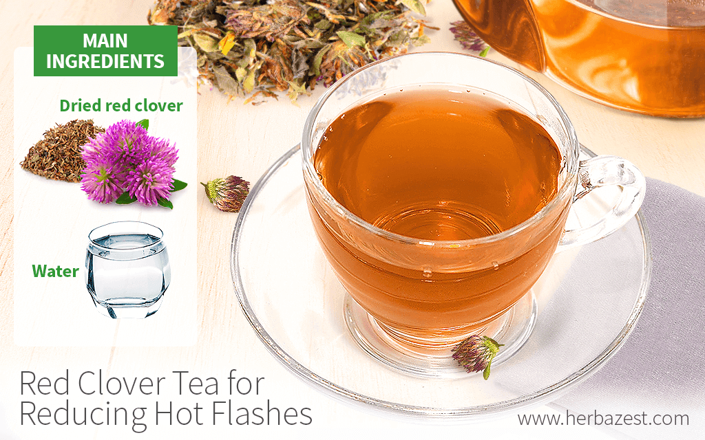 Red Clover Iced Tea for Reducing Hot Flashes