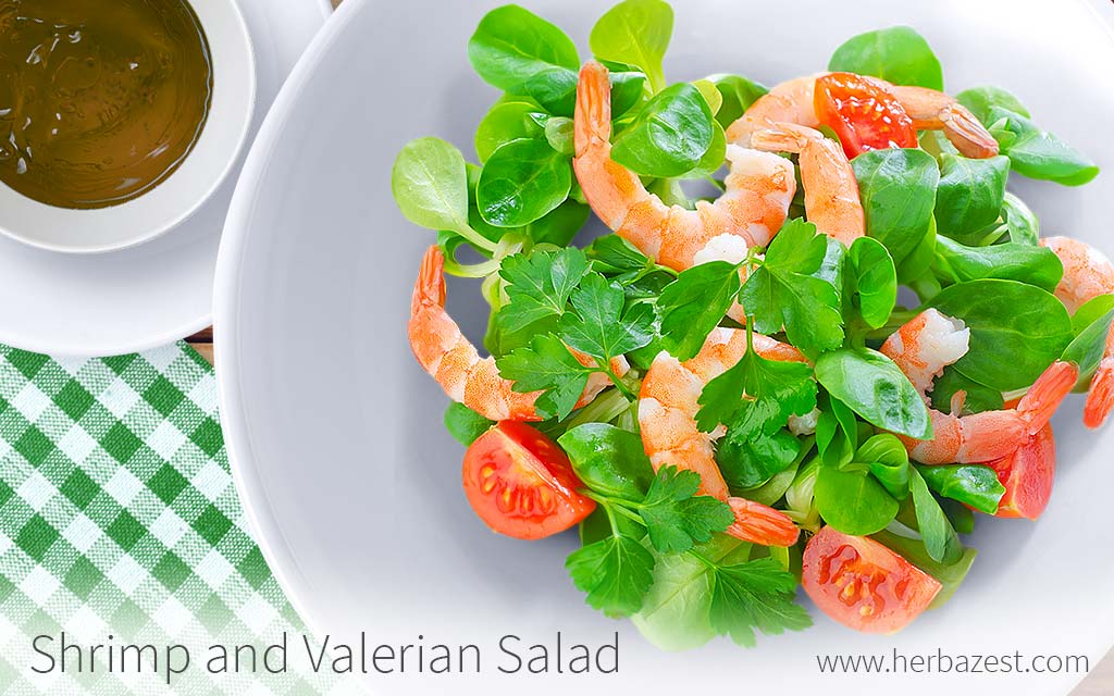 Shrimp and Valerian Salad