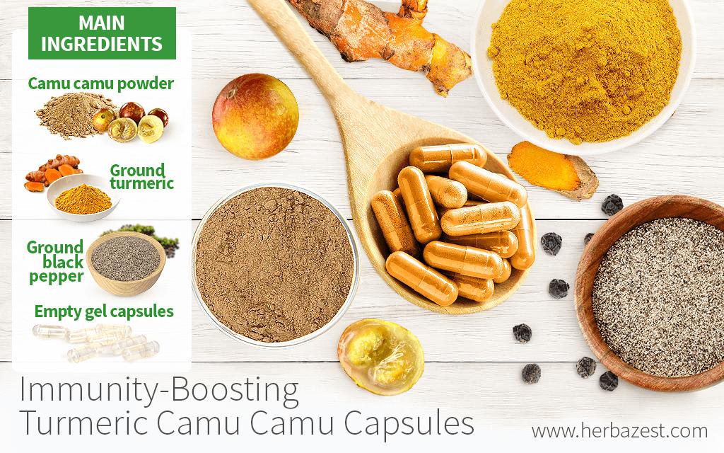 Immunity-Boosting Turmeric Camu Camu Capsules