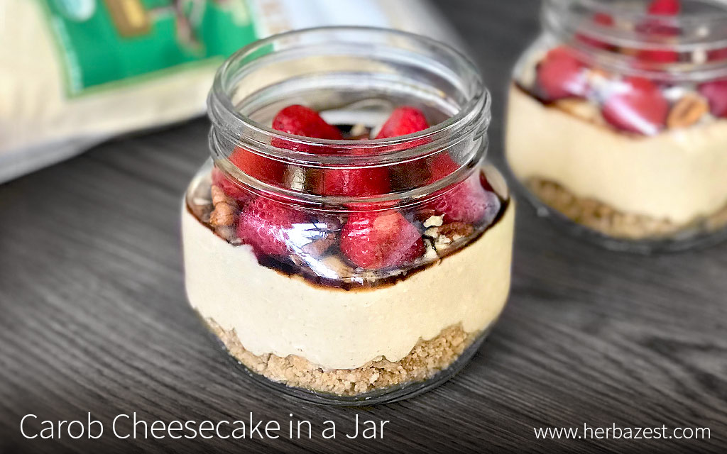 Carob Cheesecake in a Jar